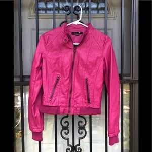 FOREVER 21 Fuchsia bomber/ riding jacket